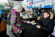Olympijský festival v Ostravě, 12. února 2018. Autogramiáda basketbalisty Jakuba Šiřiny