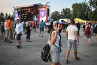 Hudební festival Colours of Ostrava 2018 v Dolní oblasti Vítkovice, 21. července 2018 v Ostravě.