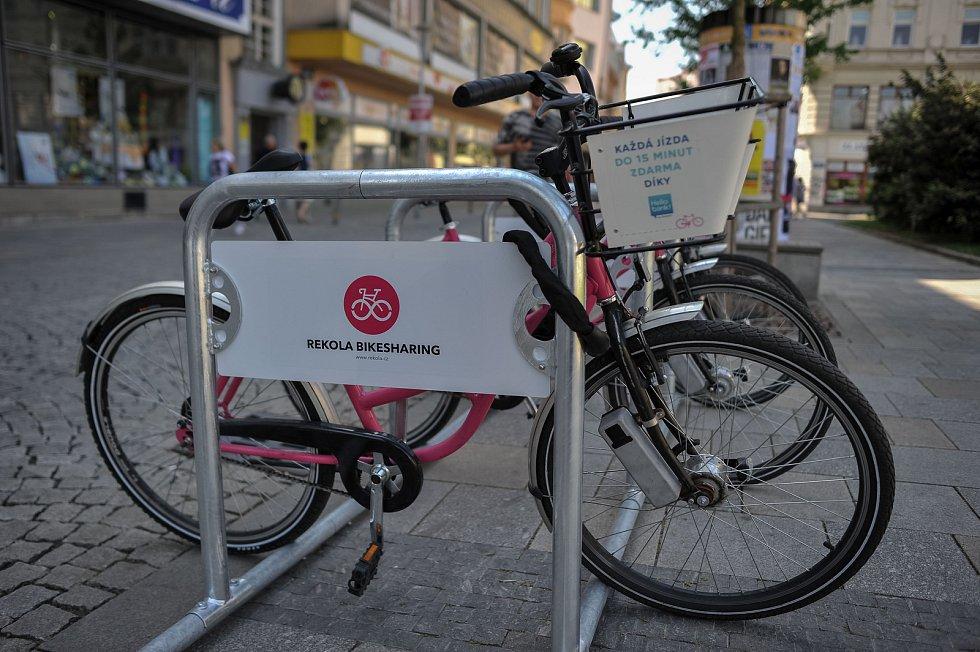 Sdílení jízdních kol v Ostravě.