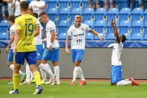 Fotbalisté Baníku Ostrava budou chtít v sobotu v Českých Budějovicích navázat na vydařený zápas se Zlínem, který i zásluhou premiérového gólu Sora přejeli 5:1.