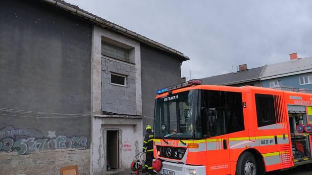 Požár bytu v Ostravě.