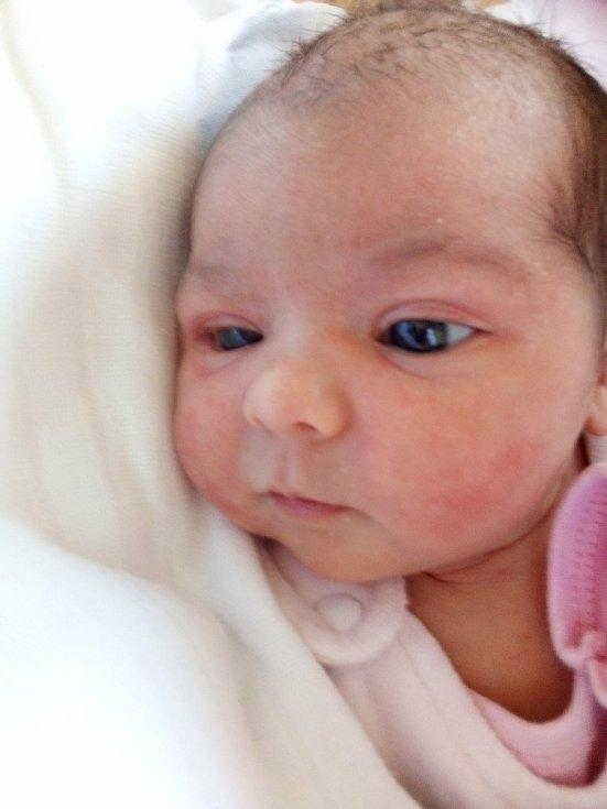 Elena Ferková, Bruntál, narozena 8. dubna 2021, míra 48 cm, váha 3630 g Foto: Pavla Hrabovská