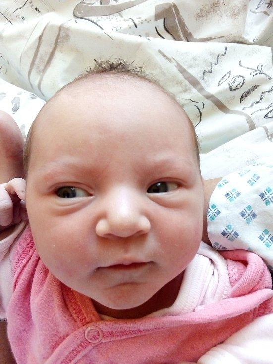 Natálie Dřímalová, Bruntál, narozena 7. dubna 2021, míra 47 cm, váha 2990 g Foto: Pavla Hrabovská