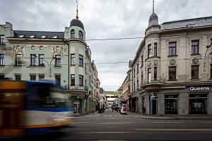 Ulice Stodolní v Ostravě, březen 2019.
