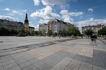 Masarykovo náměstí, 12. července 2019 v Ostravě.