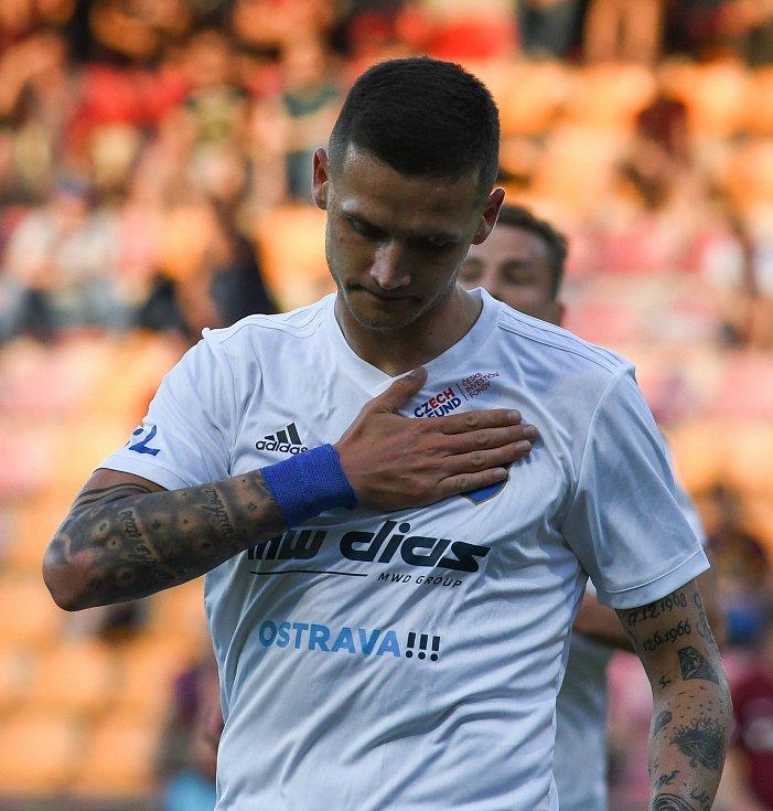 Roman Potočný z Ostravy - FORTUNA:LIGA - Skupina o titul - 2. kolo, AC Sparta Praha - FC Baník Ostrava, 23. června 2020 v Praze.