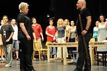 Snímek ze zkoušky opery La Wally v ostravském NDM , jež bude mít premiéru v druhé polovině září.