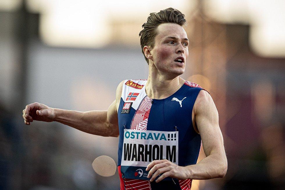Zlatá tretra Ostrava - 59. ročník atletického mítinku, 8. září 2020 v Ostravě. Závod 400m muži - Karsten Warholm.