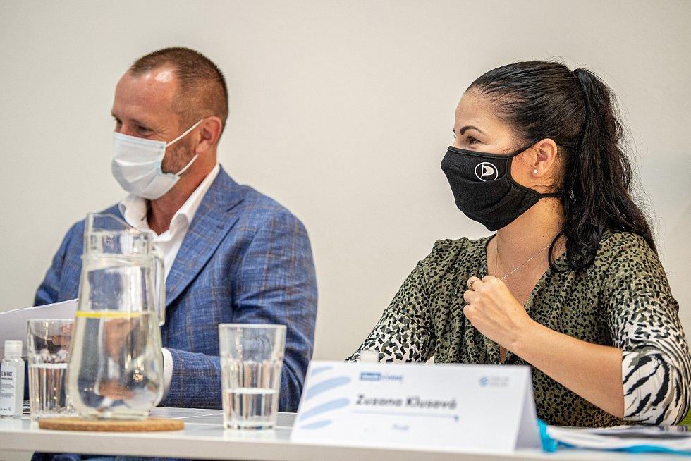 Debata Deníku, 25. září 2020 v Ostravě. Zuzana Klusová (Piráti).