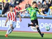 Zápas 19. kola první fotbalové ligy: FC Baník Ostrava vs. FC Viktoria Plzeň, 4. dubna 2018 v Ostravě.