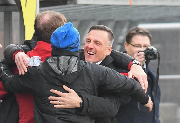 Utkání 21.kola první fotbalové ligy: 1.FC Slovácko - Baník Ostrava, 15.února 2020vUherském Hradišti. Trenér Baníku Luboš Kozel.