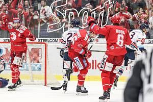 Utkání 47. kola hokejové extraligy: HC Vítkovice Ridera - HC Oceláři Třinec, 22. února 2019 v Ostravě.