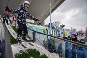 Olympijský festival u Ostravar Arény, 15. února 2018 v Ostravě. Skoky na lyžích.