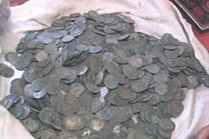 Nalezené mince.