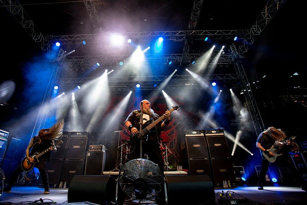 Ostrava v Plamenech, 31. července 2021 v Ostravě. Rage.