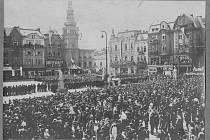 Masaryk – Návštěva prezidenta Masaryka, Masarykovo náměstí 1924