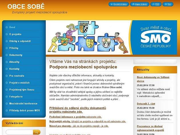Úvodní stránka webu Obcesobe.cz