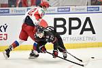 Mistrovství světa hokejistů do 20 let, finále: Rusko - Kanada, 5. ledna 2020 v Ostravě. Na snímku (zleva) Ilya Kruglov a Barrett Hayton.