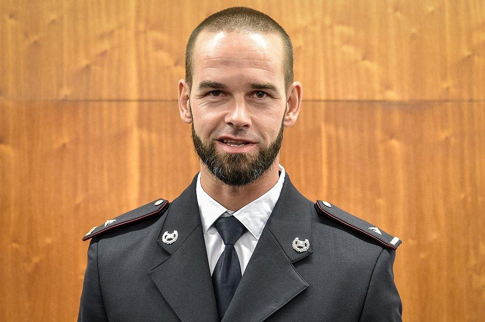 Policista zasažený bleskem Martin Žebrok.