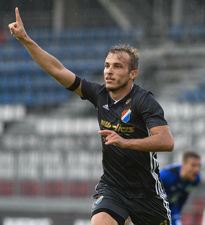 Utkání 28. kola první fotbalové ligy: SK Sigma Olomouc - FC Baník Ostrava, 7. června 2020 v Olomouci. Nemanja Kuzmanovič
