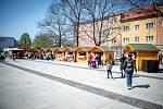 Velikonoční jarmark na Mariánském náměstí, 16. dubna 2019 v Ostravě.