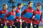Hráči české fotbalové reprezentace trénovali 9. října v Ostravě na Městském stadionu ve Vítkovicích. Trénink byl otevřený pro veřejnost.