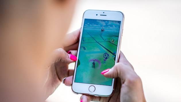 Mobilní aplikace Pokémon GO .