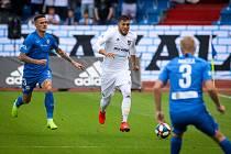 Na snímku (zleva) Roman Potočný, Patrizio Stronati, ilustrační snímek z utkání FC Baník Ostrava - FC Slovan Liberec v roce 2019.