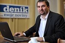Martin Štěpánek, náměstek primátora Ostravy, v redakci Moravskoslezského deník.