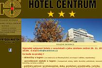 Úvodní stránka hotelového webu.
