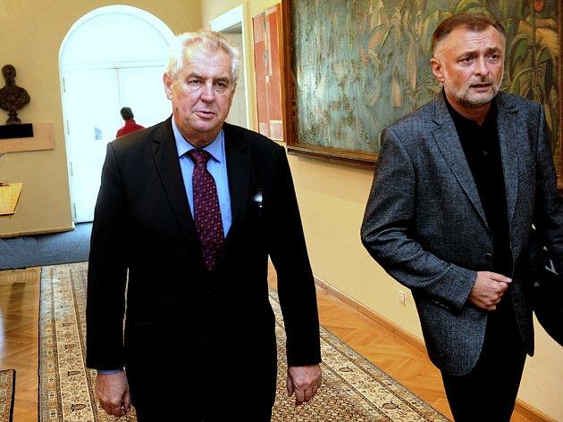 Miloš Zeman v Ostravě