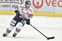 Utkání 40. kola hokejové extraligy: HC Vítkovice Ridera - HC Dynamo Pardubice, 9. ledna 2019 v Ostravě. Na snímku (zleva) Rostislav Olesz.