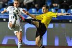 Utkání 15. kola první fotbalové ligy: FC Baník Ostrava - MFK Karviná, 25. listopadu 2017 v Ostravě. (vlevo) Denis Granečný a Jan Moravec.