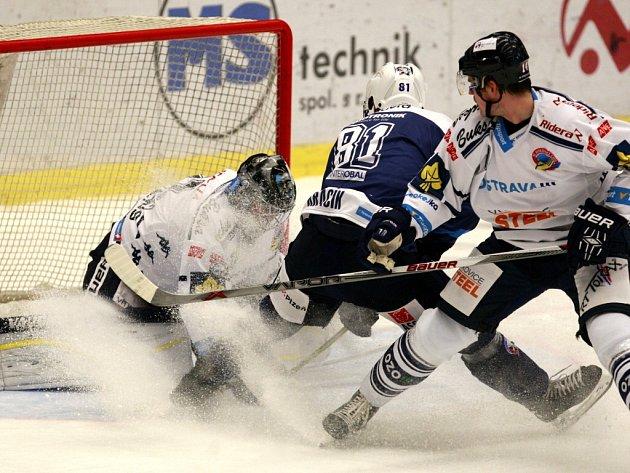 Dohrávka 6. kola hokejové extraligy: HC Vítkovice Steel – HC Škoda Plzeň 1:4 (1:2, 0:2, 0:0)