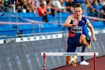 Norský atlet Karsten Warholm na Zlaté tretře v Ostravě.