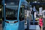 Představení tramvaje Stadler nOVA na Czech Raildays 2018 v Ostravě.