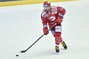 Utkání 9. kola hokejové extraligy: HC Oceláři Třinec - HC Sparta Praha, 12. října 2018 v Třinci. Na snímku Roberts Bukarts.