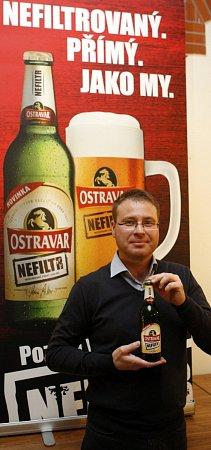 Roman Richter je sedmnáctý sládek ve 116leté historii ostravského pivovaru. Novinářům představil Nefiltr.