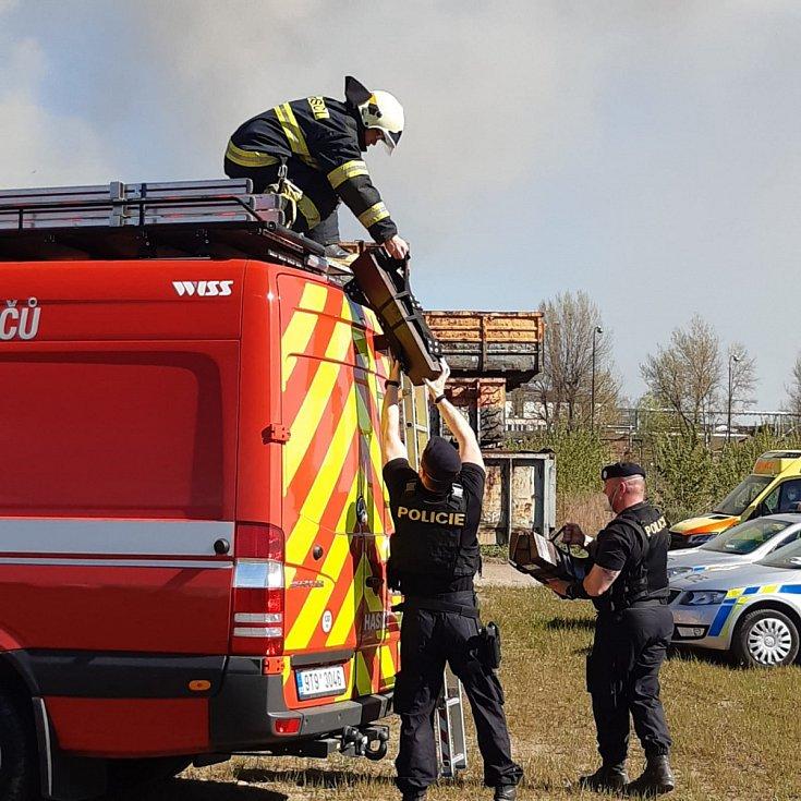 Zásah u požáru v Ostravě-Vítkovicích, 10. května 2021.