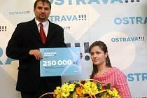 Sportovci ocenění v soutěži Sportovec Ostravy. Hendikepovaná lukostřelkyně Markéta Sídková