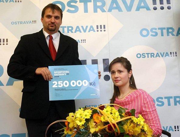 Sportovci ocenění vsoutěži Sportovec Ostravy. Hendikepovaná lukostřelkyně Markéta Sídková