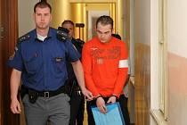 Martin Lebeda a Milan Klapetek, kteří jsou obžalovaní z toho, že 26. listopadu 2012 přepadli a zastřelili staršího muže a že od loňského jara okrádali a fyzicky napadali ženu z Horních Životic, obojí za účelem zisku.
