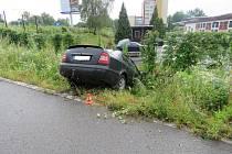 Honička skončila dopravní nehodou. Foto: Policie ČR