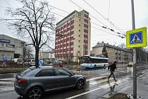 Přechod v Sokolské třídě v Moravské Ostravě, na kterém došlo k tragické nehodě, při které přišli o život dva chodci.