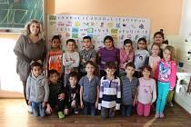 Žáci 1.C, Základní škola Generála Janka 1208, Ostrava-Mariánské Hory, s třídní učitelkou Marcelou Hejdučkovou