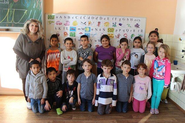 Žáci 1.C, Základní škola Generála Janka 1208, Ostrava-Mariánské Hory, střídní učitelkou Marcelou Hejdučkovou