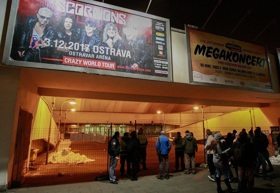 Zrušený koncert kapely Scorpions v Ostravar Aréně.