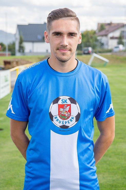 Fotbalový klub - Spolek SK Brušperk, 26. srpna 2020 v Brušperku. Daniel Klimša (obránce)