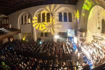 Koncert gospelové hudby v kostele Českobratrské církve evangelické v Ostravě.