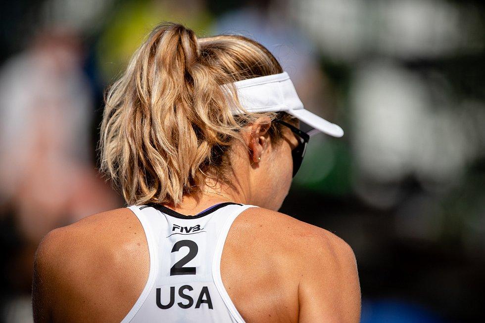 J&T Banka Ostrava Beach Open, 3. června 2021 v Ostravě. Alexandra Klineman (USA).